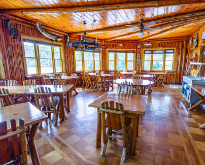 fishing lodge dining room